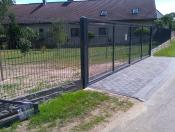 brama z panela dwuskrzydłowa