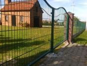 Brama dwuskrzydłoa z panela Typ Fala