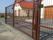 Brama dwuskrzydłowa panelowa