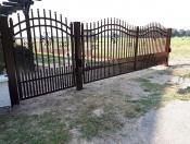 Brama dwuskrzydłowa Typ Fala z grotami kulka
