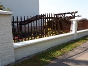 Ogrodzenie Fala z grotami kulka