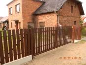brama przesuwana ze sztachet metalowych