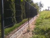 Panel prosty z przegięciem montowany na obejmy drut fi 5 m